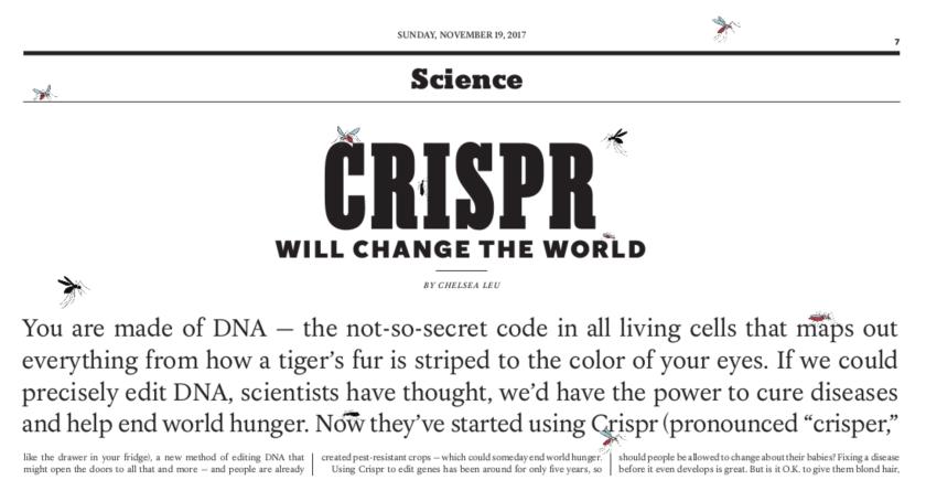 NYT CRISPR hed